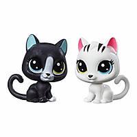 Littlest pet shop кошечки маленький зоомагазин Black and white kitten