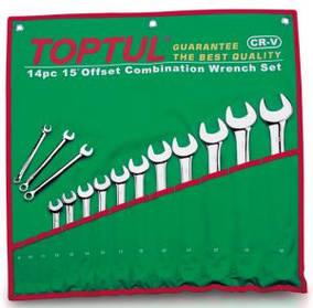 Набір ключів комбінованих 8 шт. 10-19 Toptul GAAA0804