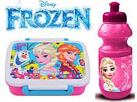 "Набор ""Frozen (Фроузен - холодное сердце)"".  Ланч бокс (ланчбокс) + бутылка"