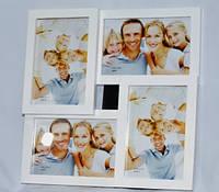 Фотоколлаж на 4 фотографии деревянный