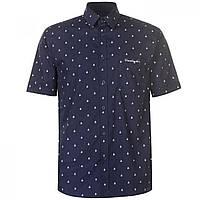 Рубашка Pierre Cardin Patterned Short Sleeve Navy Boat - Оригинал