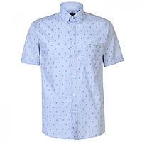 Рубашка Pierre Cardin Patterned Short Sleeve Blue Leaf - Оригинал