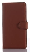 Кожаный чехол-книжка для Sony xperia z3 compact d5803 m55w коричневый