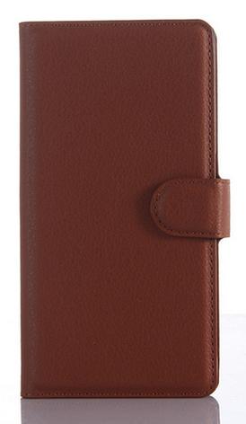 Кожаный чехол-книжка для Sony xperia z3 compact d5803 m55w коричневый, фото 2