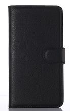 Кожаный чехол книжка для Nokia Lumia 630 черный