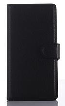 Кожаный чехол-книжка для Sony xperia z3 compact d5803 m55w черный