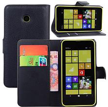 Кожаный чехол книжка для Nokia Lumia 630 красный, фото 3