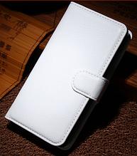 Кожаный чехол книжка для Nokia Lumia 630 белый