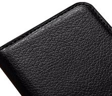 Кожаный чехол-книжка  для Lenovo A2010 коричневый, фото 3