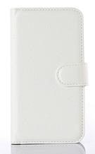 Кожаный чехол-книжка  для Lenovo A2010 белый
