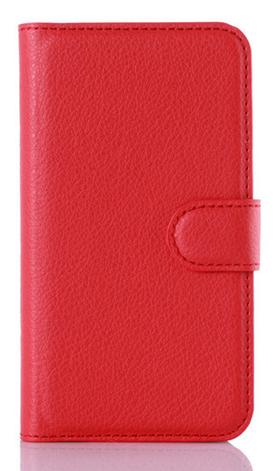 Кожаный чехол-книжка  для Lenovo A2010 красный, фото 2
