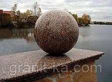 Шар из камня D100mm чёрный, фото 2