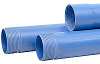 Труба обсадная 125х6,0х3100 нПВХ для скважин с резьбовым соединением синяя Мпласт (Украина)