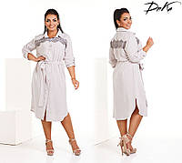 Платье рубашка женское ботал ДГС4185