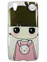 Чехол с рисунком для lenovo Vibe X S960 Девочка