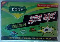 Липкая лента книжка DOOM от мух с приманкой 10 штук