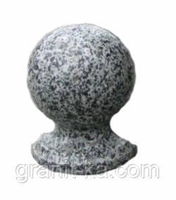 Шар из гранита D120mm серый, фото 2