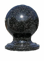 Шар из камня D120mm чёрный
