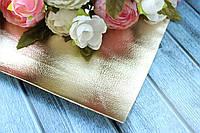 Экокожа глянец 20 х 34 см, 10 листов/уп., золотого цвета