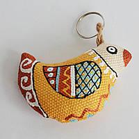 Брелок Золотой Воробушек. Украинский сувенир.