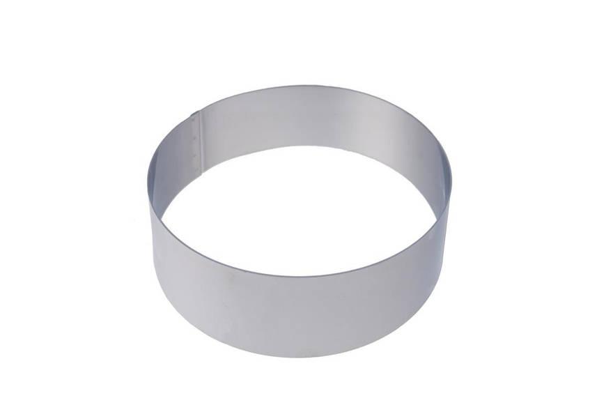 Форма без дна 20х5 см. круглая, нержавеющая сталь Martellato