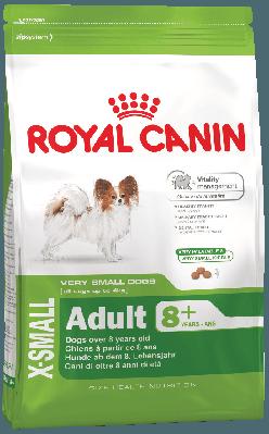 Сухой корм Royal Canin X-Small Adult 8+ для собак мелких пород весом до 4 кг старше 8 лет 500 г