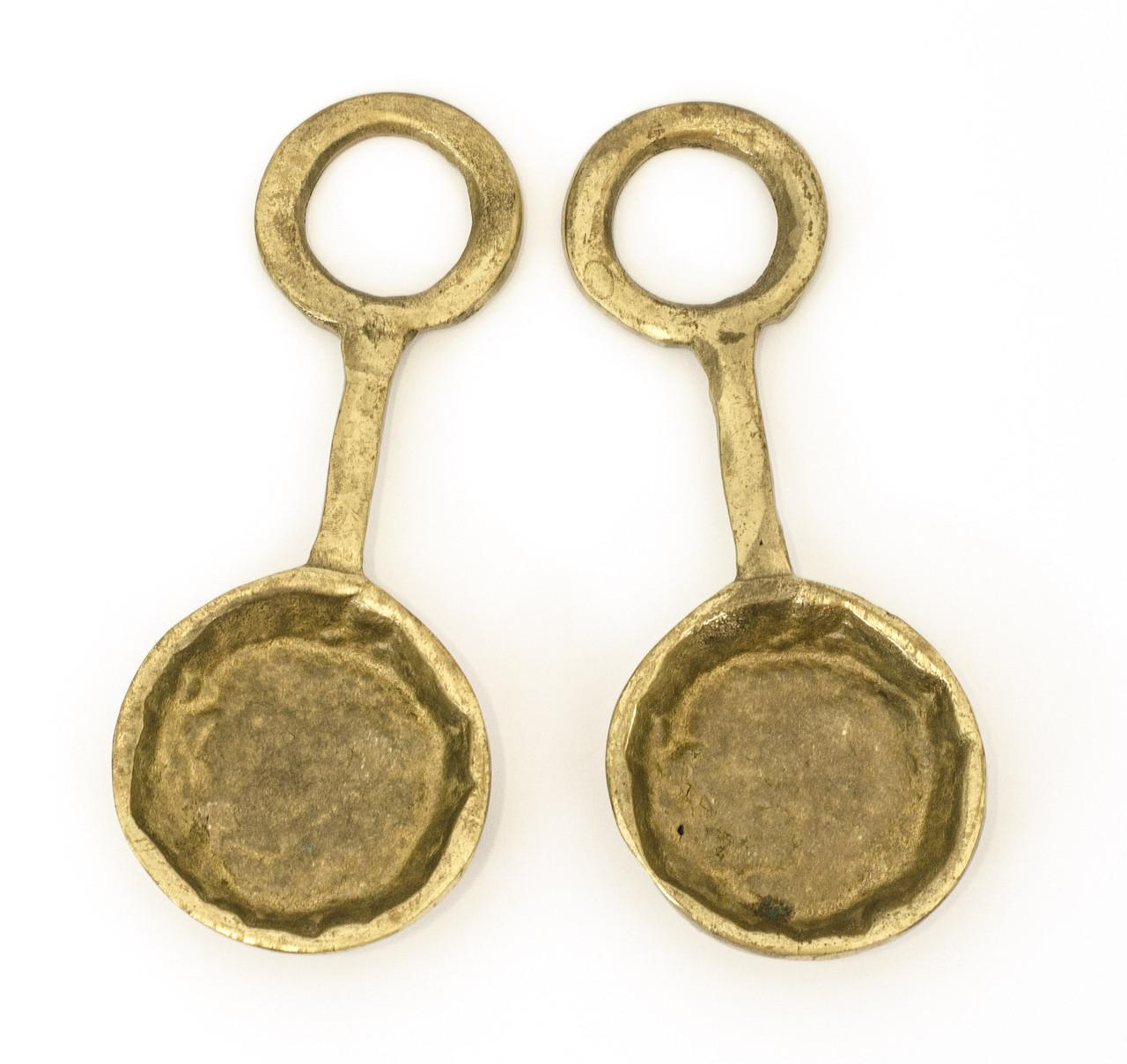 Две коллекционные декоративные ложки, бронза, декор