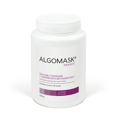 Против старения с черникой и витамином С альгинатная маска, 500 г