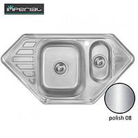 Кухонная мойка Imperial из нержавеющей стали 9550-C polish 08mm