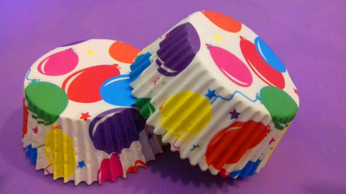 Тарталетки (капсулы) бумажные для кексов, капкейков Шарики (1000 шт)