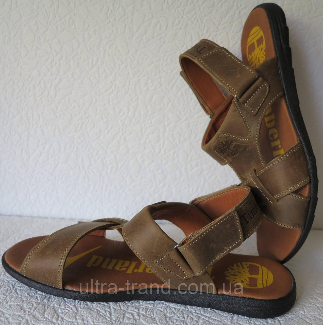 Супер удобные мужские кожаные босоножки в стиле Timberland  2e34b4ceaa46e