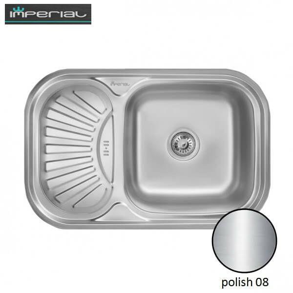Кухонная мойка Imperial из нержавеющей стали HQ-TF 02 polish 08mm