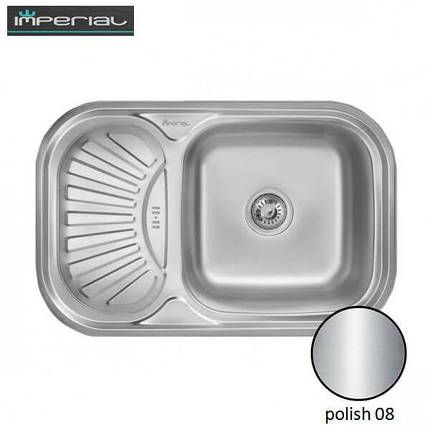 Кухонная мойка Imperial из нержавеющей стали HQ-TF 02 polish 08mm , фото 2