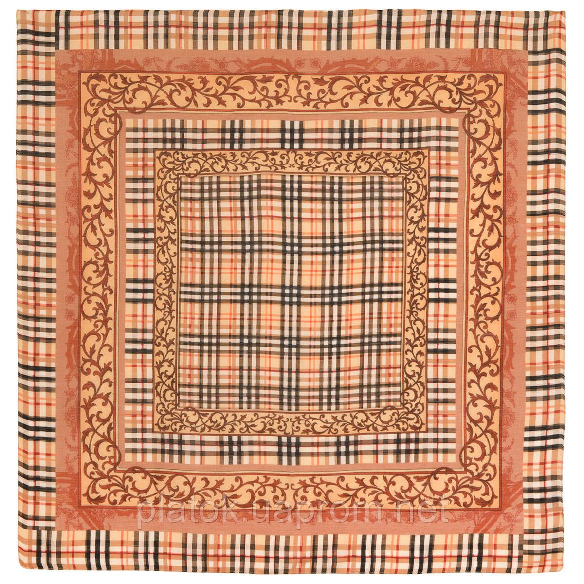 10552 10552-2, павлопосадский платок шерстяной (разреженная шерсть) с швом зиг-заг