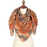 10552 10552-2, павлопосадский платок шерстяной (разреженная шерсть) с швом зиг-заг, фото 2