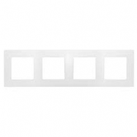 Рамка 4-местная Белый ETIKA LEGRAND 672504