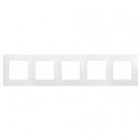 Рамка 5-местная Белый ETIKA LEGRAND 672505