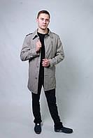 Плащ куртка пальто мужской весенний осенний демисезонный длинный молодежный