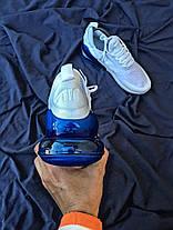 Копия Мужские кроссовки  Air Max 270 White and Blue  (найк (Реплика Топ качества ), фото 2