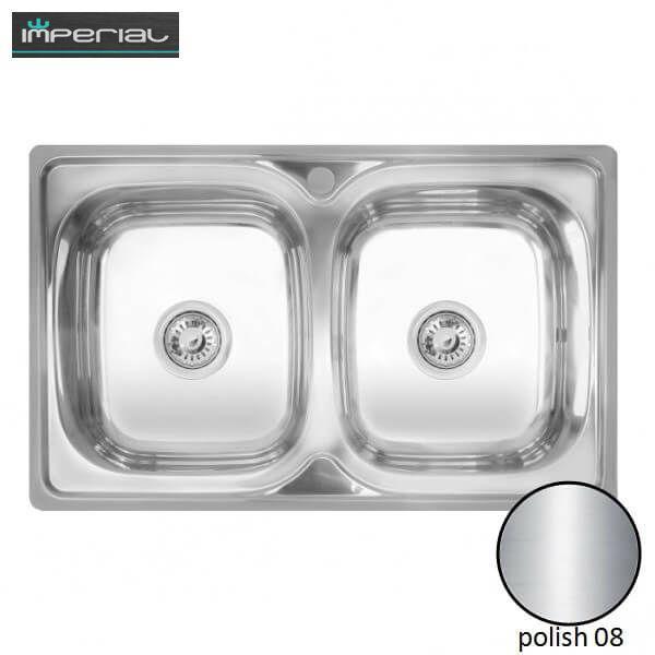 Кухонная мойка Imperial из нержавеющей стали 401 polish 08mm