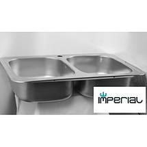 Кухонная мойка Imperial из нержавеющей стали 401 polish 08mm, фото 2