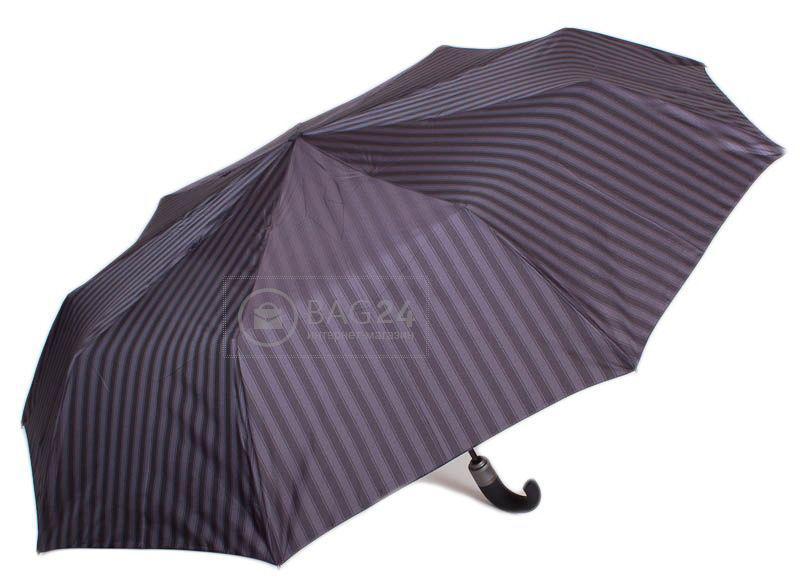 Мужской полосатый зонт, автомат ZEST  Z139430-6, Серый