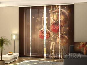 Панельная фото штора Рождественские декорации