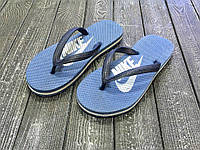 Мужские вьетнамки Nike темно синие / вьетнамки мужские Найк