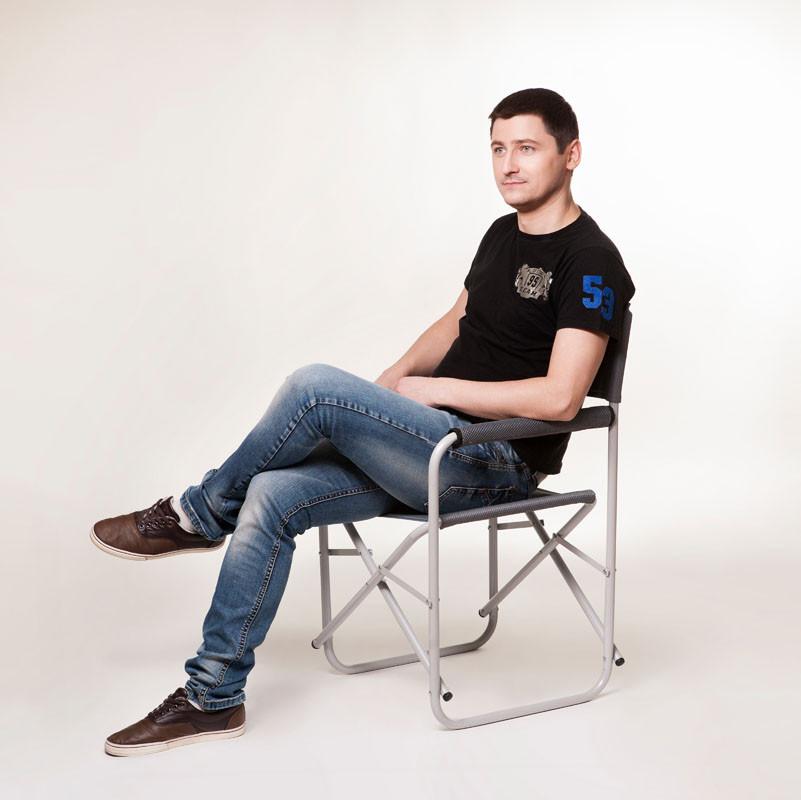 """Стул """"Режиссёр без полки"""" (хаки-зелений меланж)"""