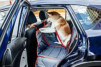 Гамак для перевозки собак в автомобиле двойной ТрендБай 3054 Доггин Дабл серый