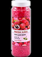 Fresh Juice Соль для ванн «Litchi & Patchouli» 700g