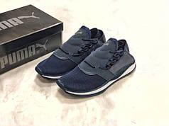 Мужские кроссовки Puma Tsugi синие топ реплика