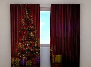 Фото шторы Новогодняя елка 1