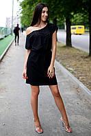 Чёрное коттоновое платье Yolanda